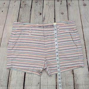 GAP Shorts - Gap Khakis By Gap Girlfriend Striped Shorts